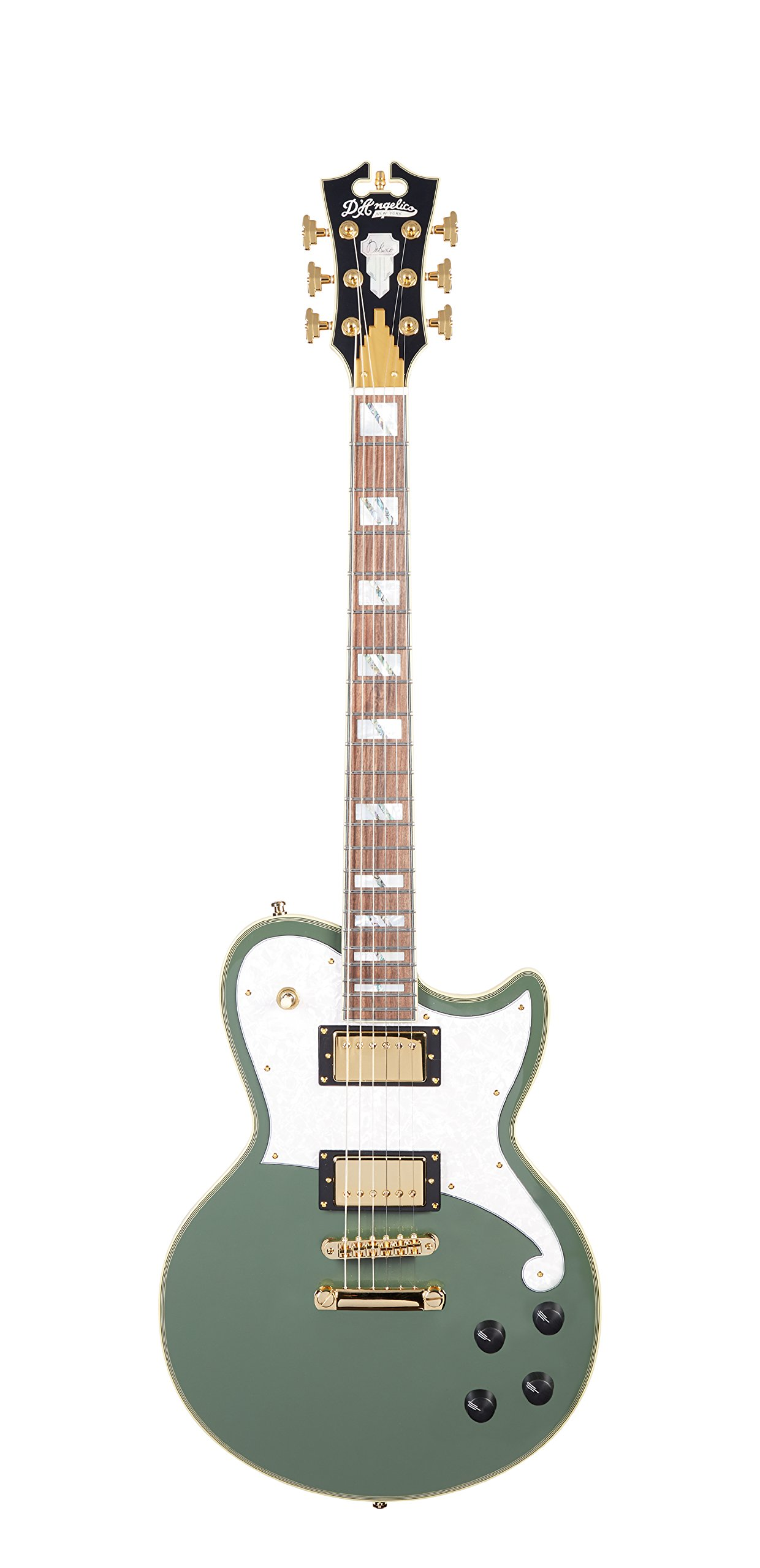Cheap D Angelico Deluxe Atlantic Electric Guitar - Hunter Green Black Friday & Cyber Monday 2019