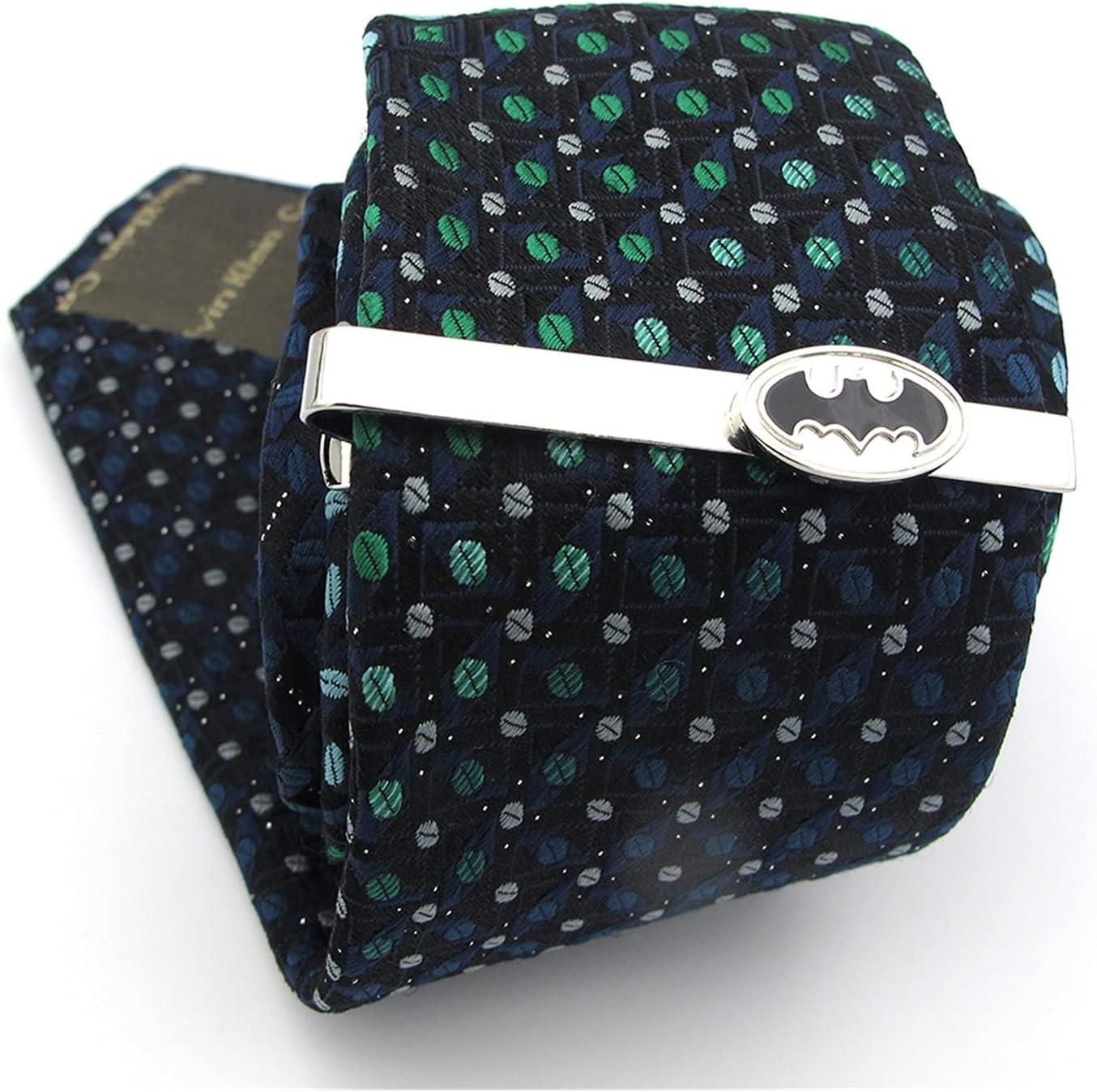 chenfeng Tie Clips Superheroes Bat Design Tie Clips for Men Quality Copper Material Black Color