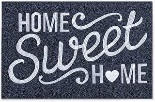 """Home Sweet Home Door Mat Outdoor Indoor Welcome Mat Large 24""""x36"""" with Non Slip Rubber Backing Ultra Absorb Mud Easy Clean..."""