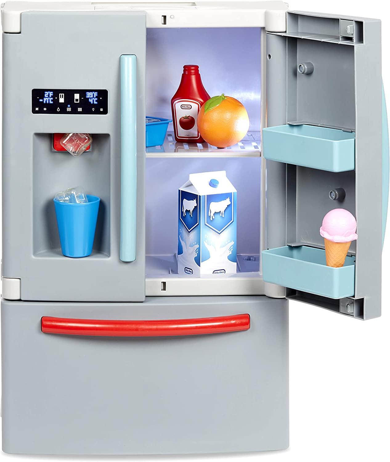 Little Tikes First Fridge Refrigerator with Ice Dispenser Pretend Play Appliance for Kids, Play Kitchen Set with Kitchen Playset Accessories Unique Toy Multi-Color: Toys & Games