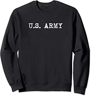 Distressed US Army Logo PT Workout Retro Vintage Sweatshirt