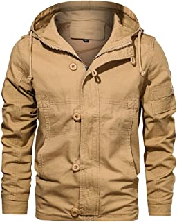 Sunward Men's Coat Autumn Winter Military Hoodie Tactical Breathable Jacket