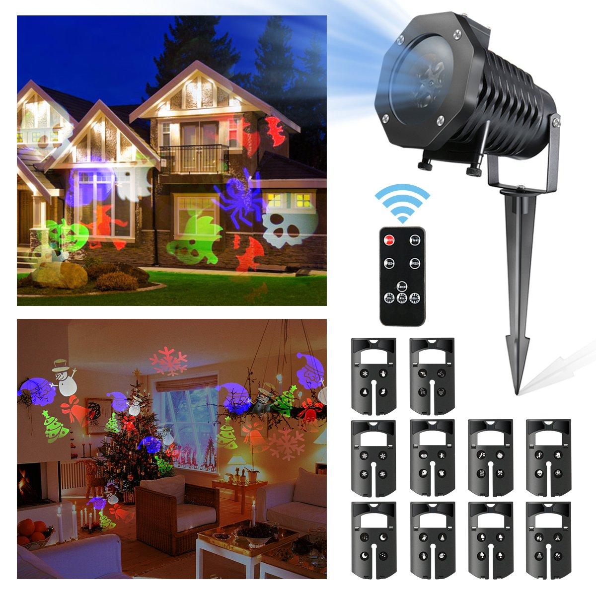 LED Proyector Luces de Navidad, CAMTOA 10 Proyector de Iluminación ...