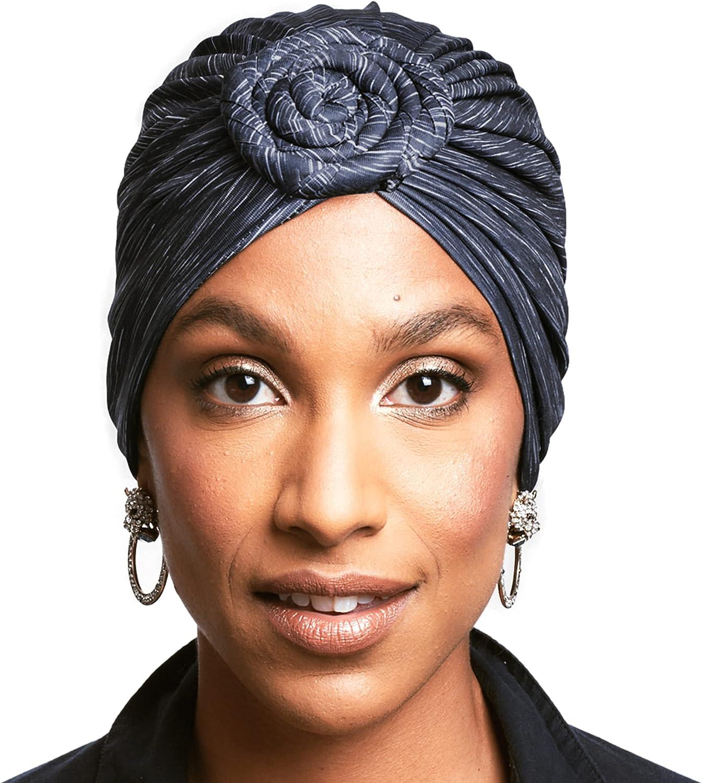 African Head Wrap - Pretied Turban Headwraps for Women - Stylish & Comfortable Fashion Hair Wrap, Scarf, Head Tie