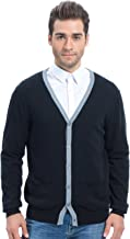 Choies Men's Gray Lapel Button Up Pocket Long Sleeve Cardigan