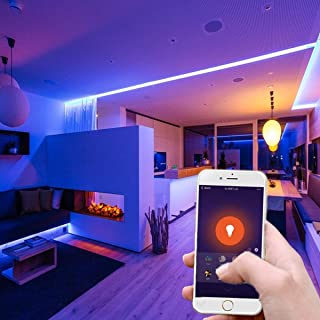 Tomshine Smart LED Strip Lights Music sync Waterproof RGBW SMD LED Rope Lights Color Changing, WiFi LED Strip Working with Google Home, Alexa and IFTTT