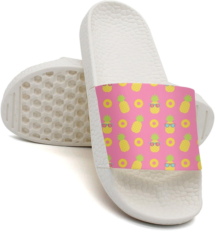 Qiopw rtw Bathroom Shower Non-Slip Sandal Cute Cool Cartoon Pineapple with Sunglasses Indoor Slipper shoes for Beautiful Women