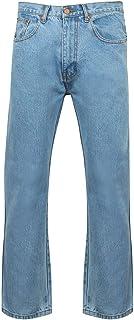 "Mens Regular Comfort Standard Fit Zip Fly Denim Jeans Size 28 to 60"" Inside Leg 27, 29, 31, 33"