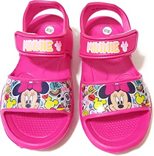 Sandalias Minnie Mouse para Playa o Piscina - Sandalias Disney Minnie Mouse con Velcro para Niñas