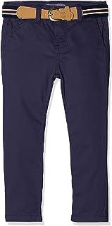 LAUSONS Pantaloncini Bambini e Ragazzi Pantaloncini Chino con Elastico in Vita Pantaloni Corti Estivi Ragazzo 3-12 Anni