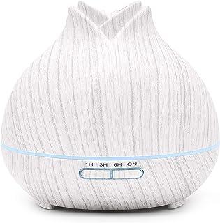 ASAKUKI Premium Essential Oil Diffuser, 400ml Aromatherapy Oil Diffuser with Cool Mist, Waterless Auto Shut-Off Humidifier...