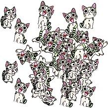 MagiDeal 100 Pcs Bouton Forme Chat Mignon en Bois pour Couture Scrapbooking Accessoire