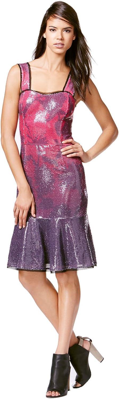Rachel Rachel Roy Women's Drop-Waist Sequin Flounce Dress (Bordeaux Combo, 2)