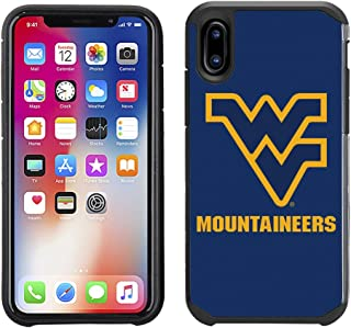 Prime Brands Group Textured Team Color Cell Phone Case for Apple iPhone X - NCAA Licensed West Virginia University Moutain...