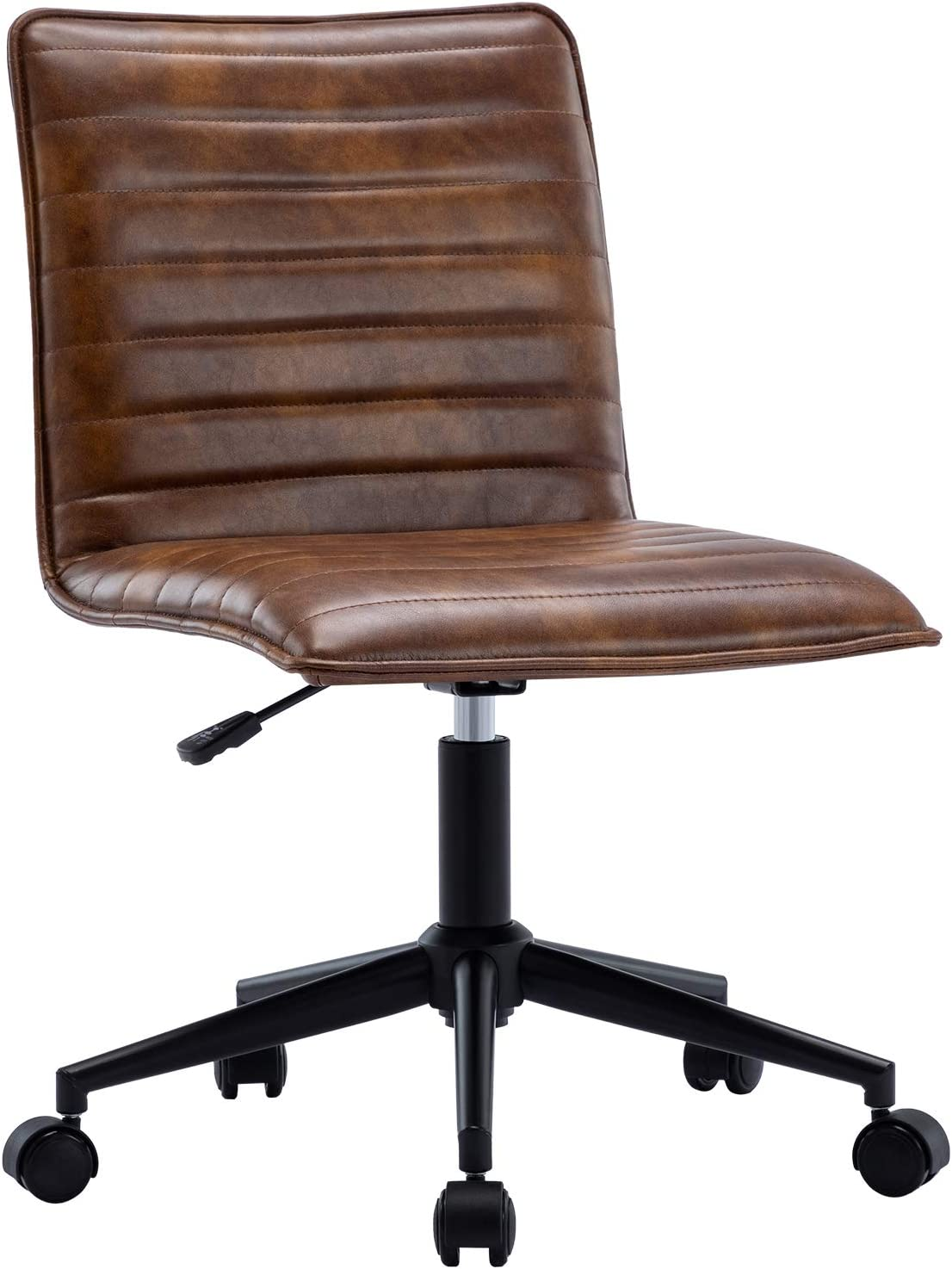 Duhome Columbus Mall Fashionable Leather Office Chair Armless T Swivel Computer Desk