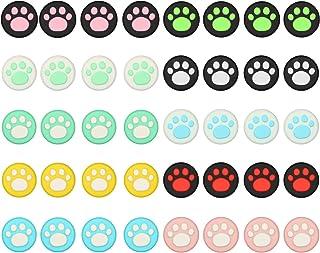 40 piezas 10 colores Cat Claw Design Joystick Cover Sets, tapas de agarre para el pulgar compatibles con Nintendo Switch & Lite, cubierta de joystick de silicona suave para controlador Joy-Con