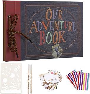 Boic Album Photo Scrapbooking, Album de Bricolage avec Kit Accessoires, Livre Fait à La Main DIY Album pour Mariage, Voyag...