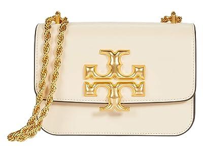 Tory Burch Eleanor Small Convertible Shoulder Bag (New Cream) Handbags