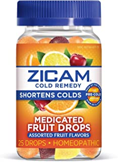 Best Zicam Cold Remedy Medicated Fruit Drops Homeopathic Medicine for Shortening Colds, Assorted Fruits, 25 Drops Review