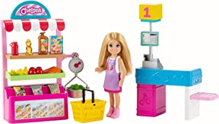 Barbie Chelsea Can Be Snack Stand Playset with Blonde Chelsea Doll (6-In/15.24-cm), 15+ Pieces: Snack Stand, Register, Foo...