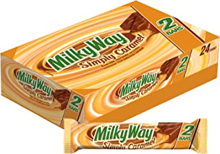MILKY WAY Simply Caramel Milk Chocolate Sharing Size Candy Bars 2.84-Ounce Bar 24-Count Box