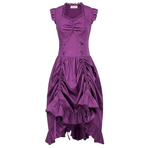 1d9d24b28ae4 Belle Poque Vintage Black Steampunk Gothic Victorian Ruffled Dress  Sleeveless BP000364