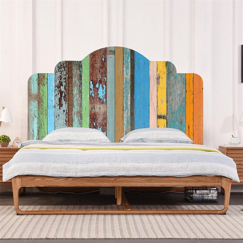 AmazingWall Bed Wall Sticker Shabby Headboard Art Decor Self Adhesive Just Peel and Stick Nursery Kids Room Bedroom Decoration