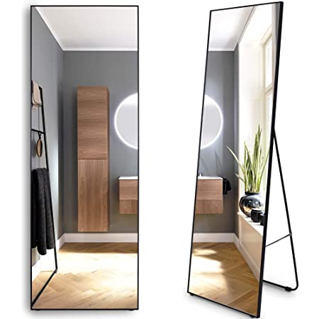 OUTDOOR DOIT 63 x 15 Full Length Body Mirror Hung on The Wall-Mounted Mirror or Standing Hanging Bedroom Mirror Floor Mirror Dressing Mirror Cherry