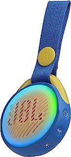 JBL JR POP - Altavoz inalámbrico portátil con Bluetooth óptimo para niños, 5 h de tiempo de juego, resistente al agua, azul