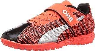 Puma Unisex Kid's One 5.4 Tt V Jr Black-nrgy Red Football Shoes