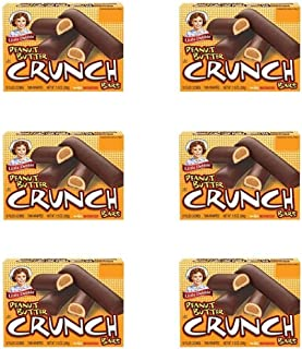 Little Debbie Peanut Butter Crunch Bars, 11 Oz (Pack of 6 Boxes)