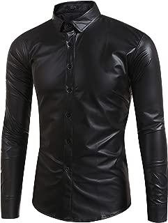 Best mens leather button down shirt Reviews