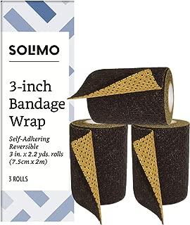 Amazon Brand - Solimo Reversible Black/Gold Self-Adhering Bandage, 3