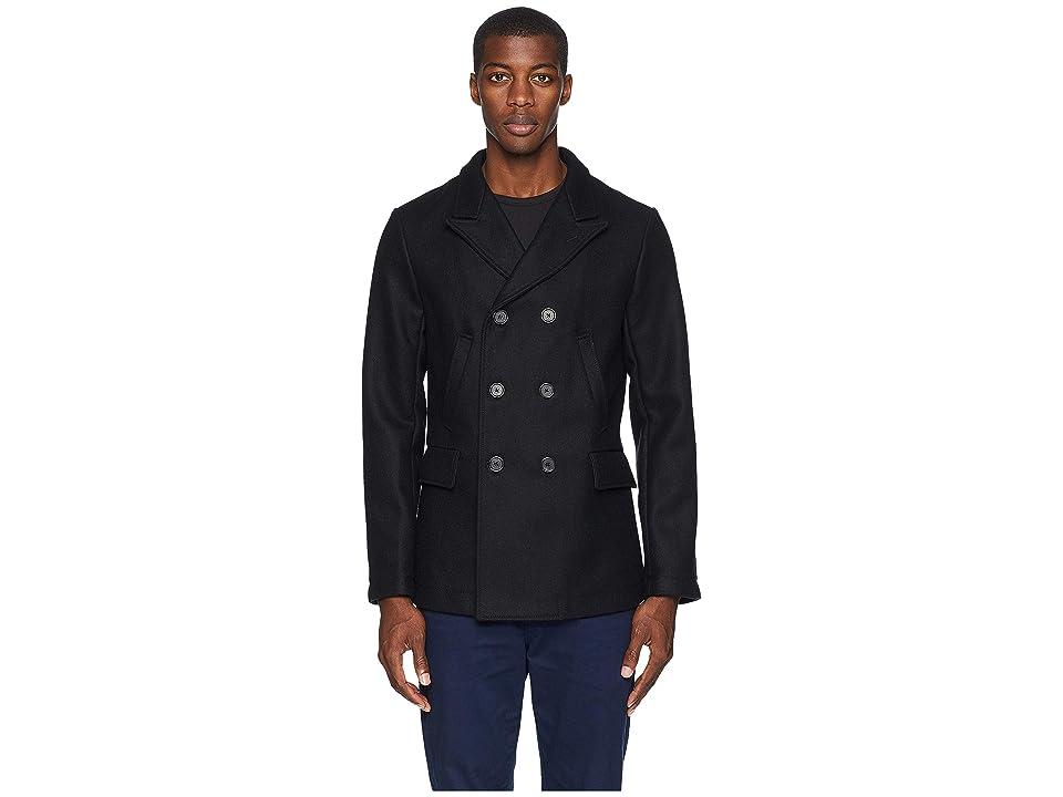 Image of Billy Reid Bond Peacoat (Black) Men's Coat