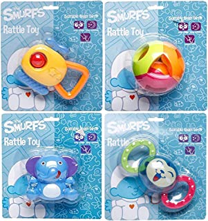 Smurfs Rattle Toy (Ball,Cat,Elephant,Heli)(Pack of 4)