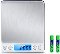 Digital Kitchen Scale,Amicable 3000g/0.1g mini pocket jewelry scale, cooking food scale with LCD display, 6-Units Auto off...