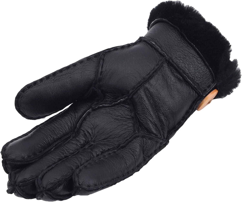 WEILYDF Thermal Gloves Women's Fleece Autumn Winter Outdoor Warm Screen-Touching Gloves Faux Fur Trim Accessories Gifts