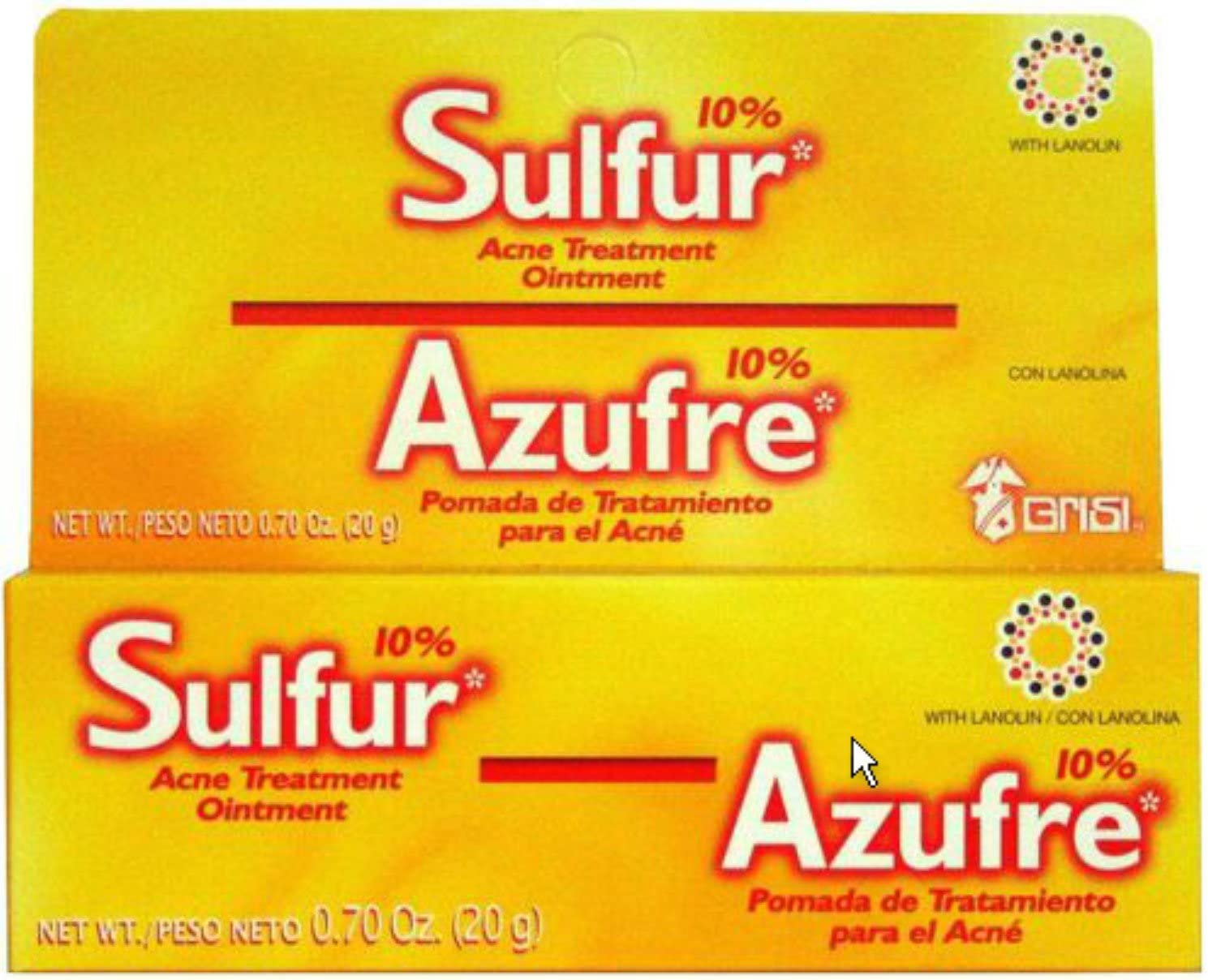 Grisi Sulfur Acne Treatment Ointment oz of Manufacturer 25% OFF direct delivery Pack .7 7