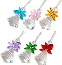 rockcloud Hanging Clear Crystal Point Prism Glass Jingle Bell Holiday Decorations Christmas Tree Ornaments Suncatcher Wedding Souvenir