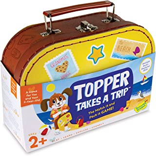 Peaceable Kingdom Topper Takes A Trip - The Match It and Pack It Game for You and Your 2 Year Old