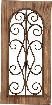 Amazoncom Deco 79 52732 Wood Metal Wall Panel 25 H X 10 W 25 X