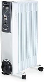 Tristar KA-5114 Calefactor eléctrico con 9 cuerpos y 3 funciones ajustables, 2000 W, Blanco