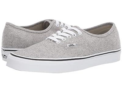 Vans Authentictm ((Herringbone) White Asparagus/True White) Skate Shoes