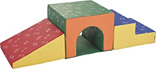 ECR4Kids SoftZone Single-Tunnel Foam Climber, Freestanding Indoor Active Play Structure for Toddlers and Kids, Safe Soft Foam Play Set, Easy to Assemble, Primary Colors
