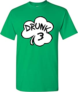 Drunk 3 Costume St. Patricks Funny Inspired by Dr. Seuss Adult T-Shirt Tee