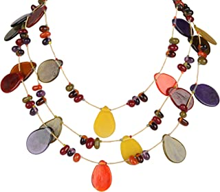 DCA Multicolor Glass Women Necklace