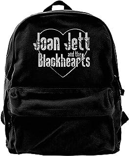 Mochila de lona Joan Jett y The Blackhearts 2 mochila de gimnasio senderismo portátil bolsa de hombro para hombres y mujeres