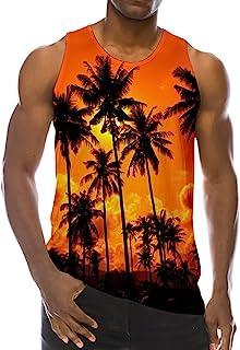 Loveternal Summer 3D Digital Printed Mens Sleeveless Tees Cool Tank Tops  Crewneck Shirts