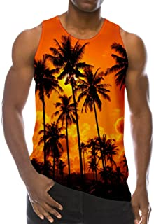 Loveternal Men Summer Cool Funny Tank Top Gym Fitness Sleeveless T-Shirt
