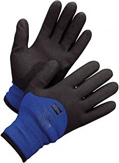 North Safety NorthFlex Cold Grip TM Coated Nylon Work Gloves - 2X-Large Black and Blue - 1 Pair - NF11HD/11XXL